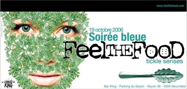 affiche soirée bleue by atelier visuel