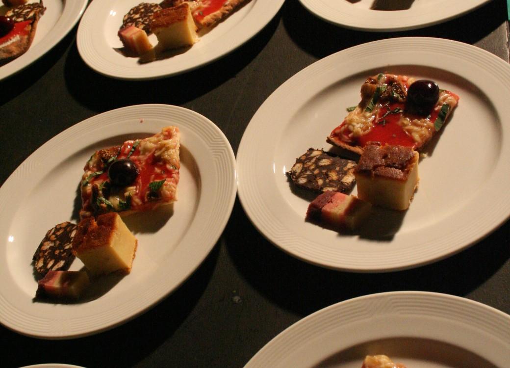 pizza et choucroute garnie - dessert
