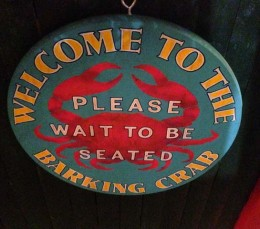 Barking Crab - welcome